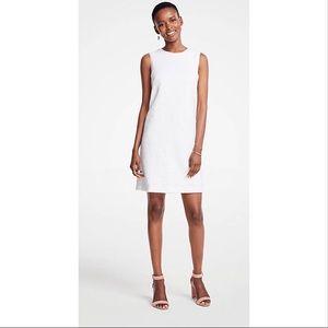 Ann Taylor shift dress knit textured size 8 white